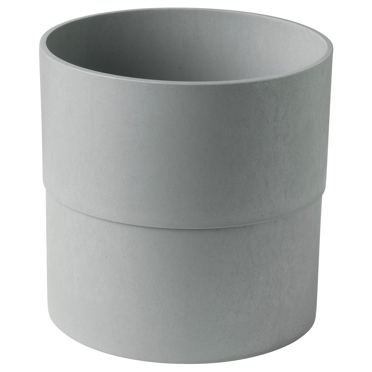 Цветочный горшок IKEA NYPON 24 см серый 003.956.24