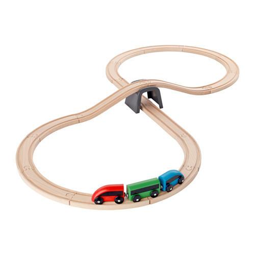 Железная дорога, набор, 20 предм, разноцветный IKEA LILLABO 003.200.54