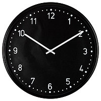 Часы IKEA BONDIS настенные черный 701.524.67