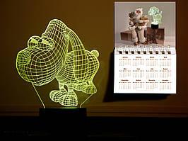 """Сменная пластина для 3D светильников """"Пёсик"""" 3DTOYSLAMP"""
