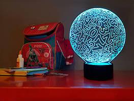 """Сменная пластина для 3D светильников """"Цифры"""" 3DTOYSLAMP"""