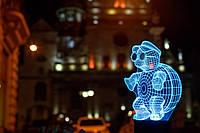 """Сменная пластина для 3D светильников """"Черепаха в очках"""" 3DTOYSLAMP"""