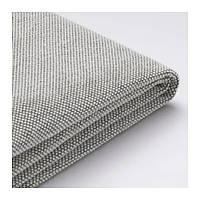Чехол спинки с подушкой для модульного дивана IKEA DELAKTIG Tallmyra серый белый 303.948.40