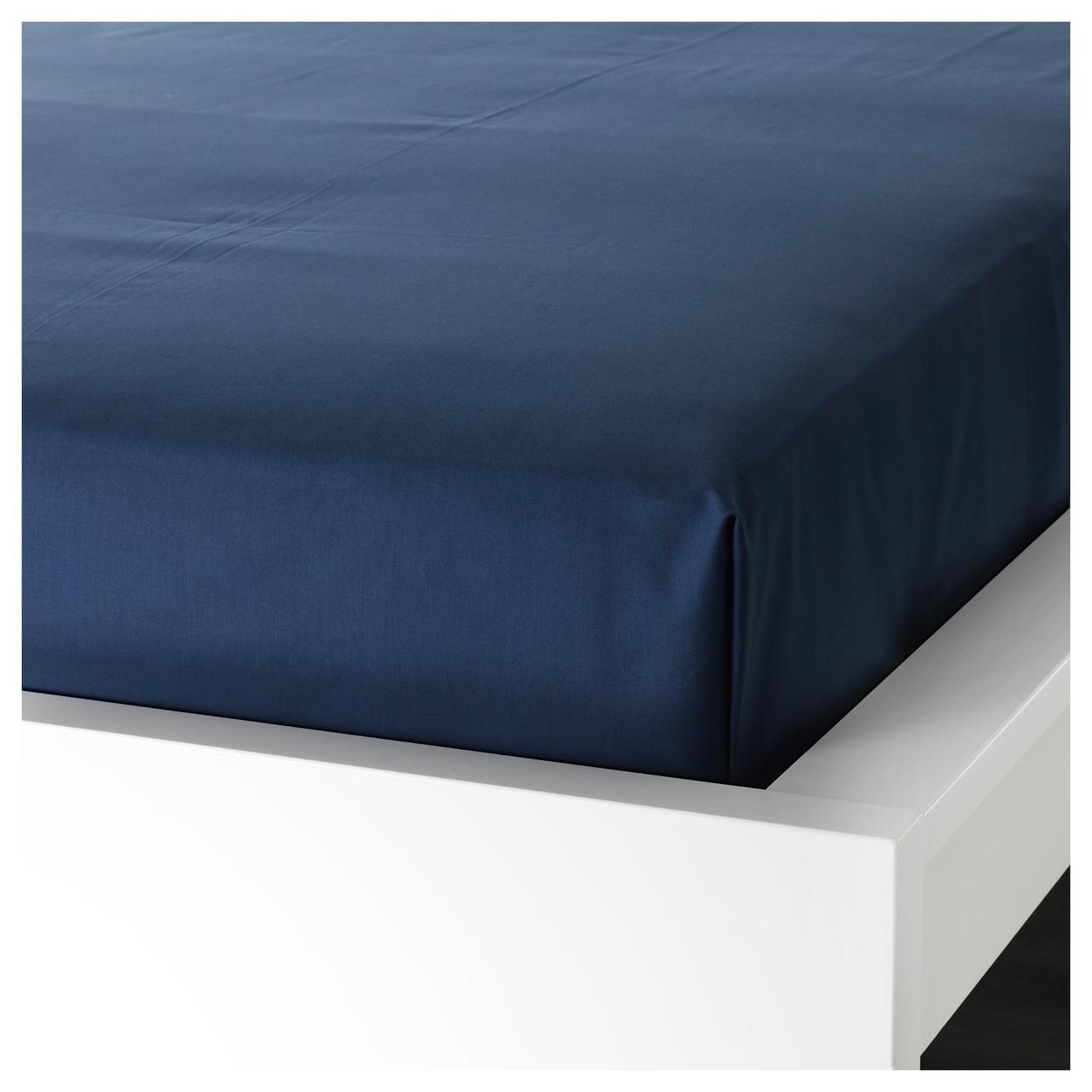 Простыня IKEA ULLVIDE 150х260 см темно-синяя 603.427.55