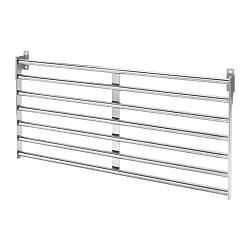 Настенная рейлинговая система IKEA KUNGSFORS 56х26.5см нержавеющая сталь 803.349.19