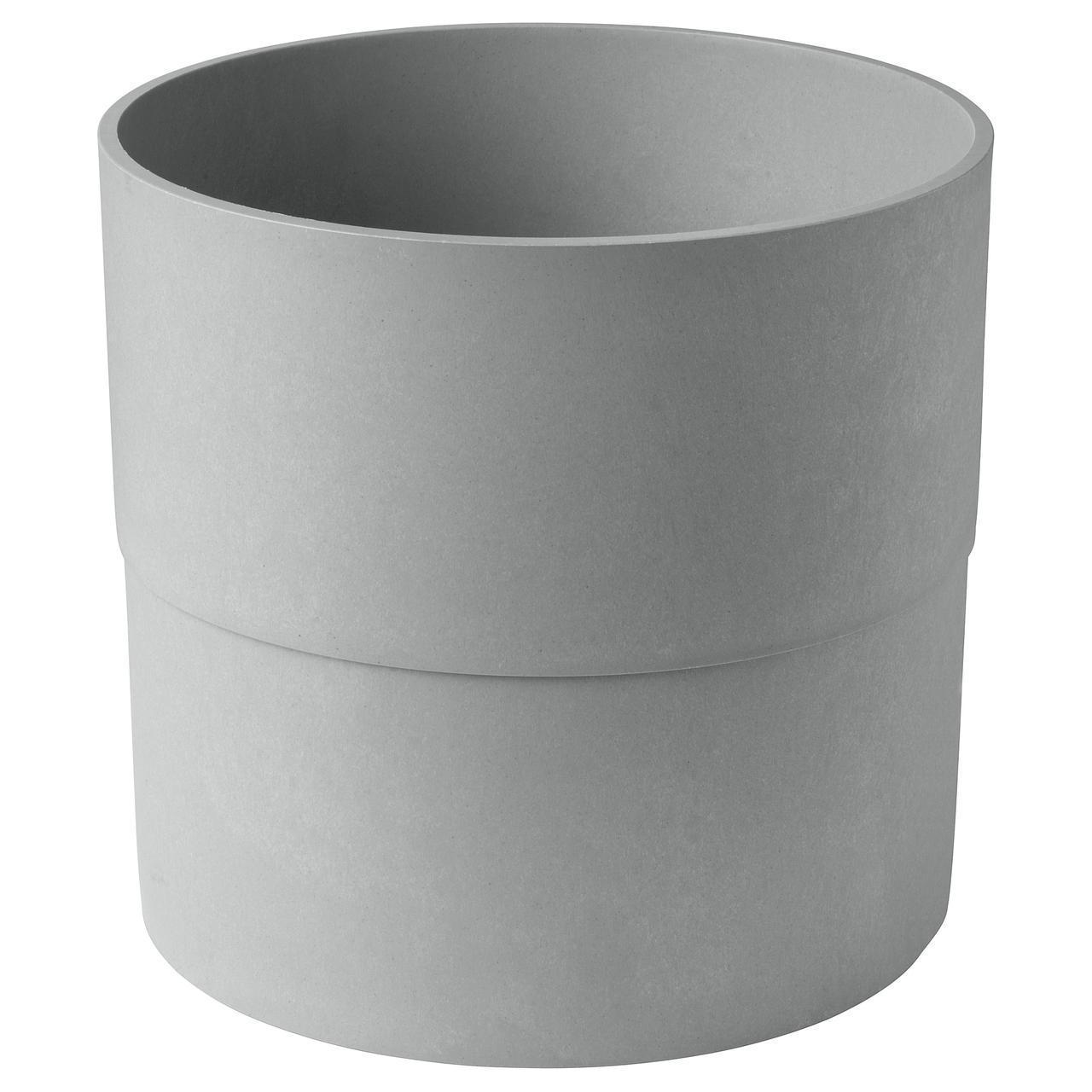 Цветочный горшок IKEA NYPON 32 см серый 303.956.32