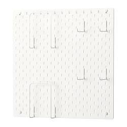 Полку IKEA SKÅDIS 56x56 см комбінація перфорованих дощок біла 392.170.65