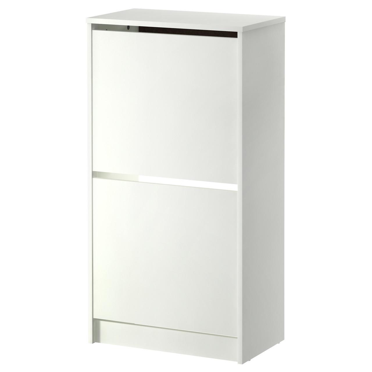 Шкафчик для обуви IKEA BISSA 2 ящика белый 502.427.37