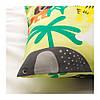 Комплект постельного белья IKEA DJUNGELSKOG 150x200/50x60 см с рисунком зверюшки зеленый 203.935.20, фото 4