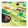 Комплект постельного белья IKEA DJUNGELSKOG 150x200/50x60 см с рисунком зверюшки зеленый 203.935.20, фото 5