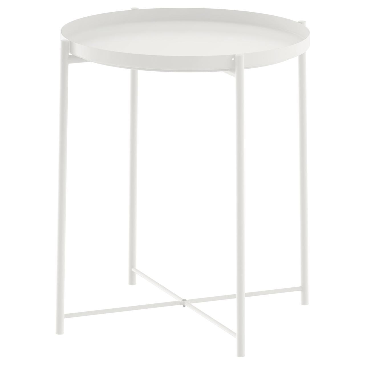 Столик IKEA GLADOM 45x53 см білий 703.378.19