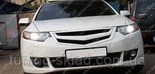 Решетка радиатора Хонда Аккорд 8 с перемычкой (тюнинг решетка Honda Accord 8)
