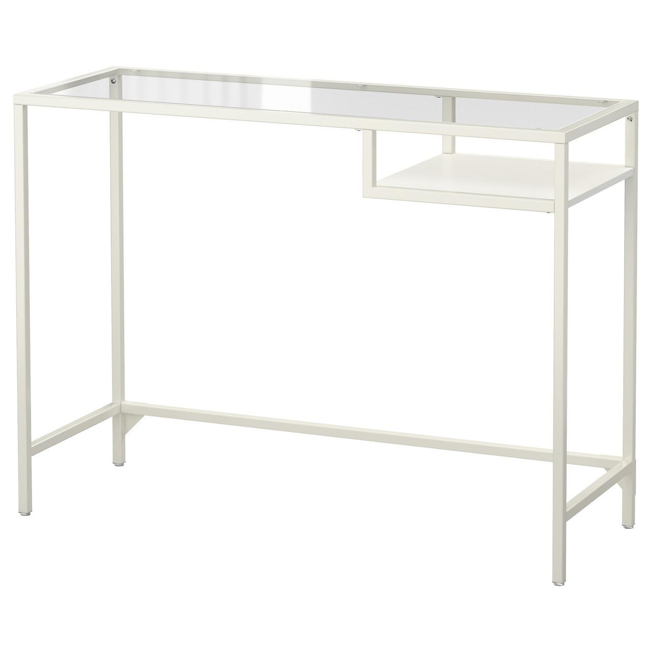 Компьютерный стол IKEA VITTSJO стекло белый 403.034.44