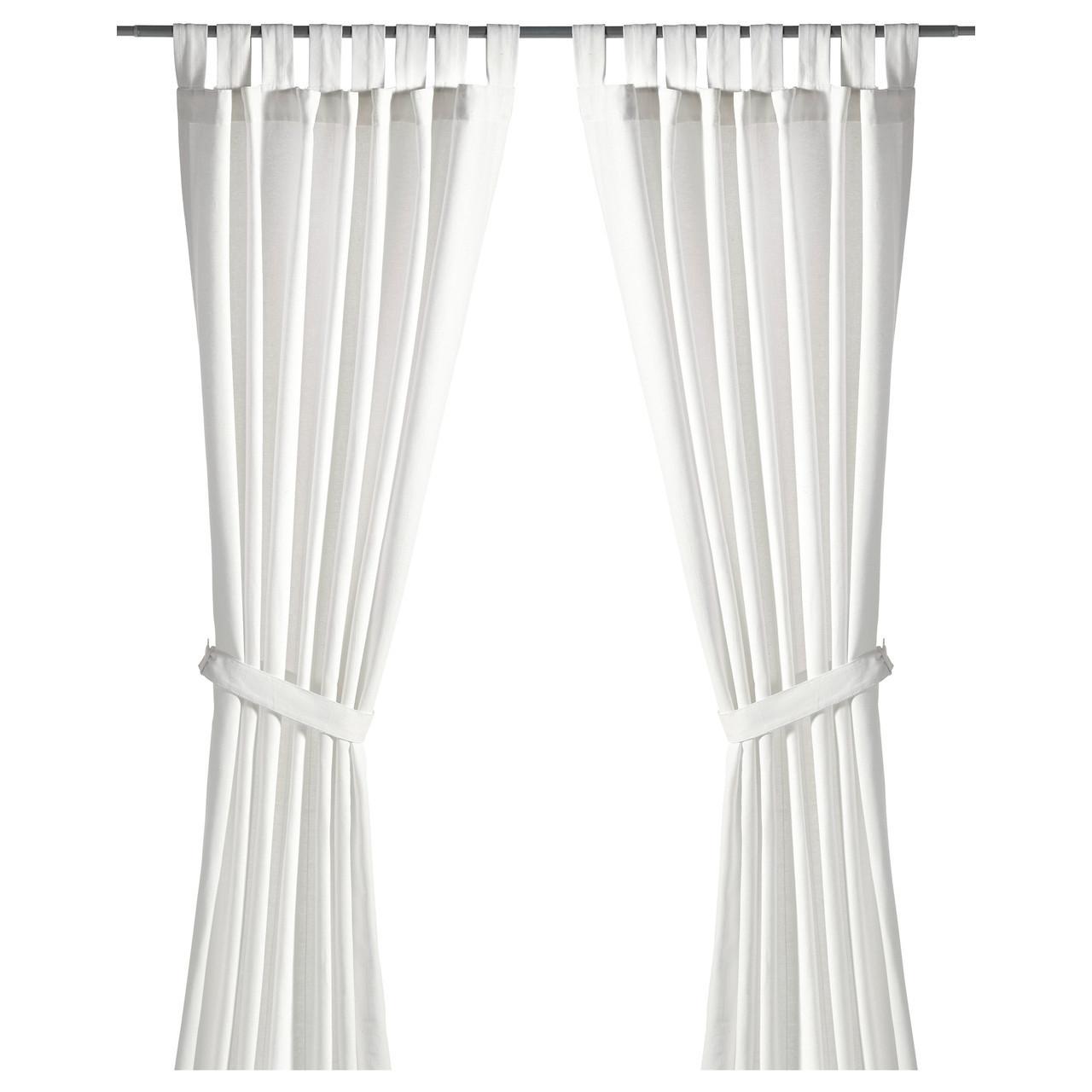 LENDA Завеса с обвязкой, 2 шт., белый светлеет, 500.901.16