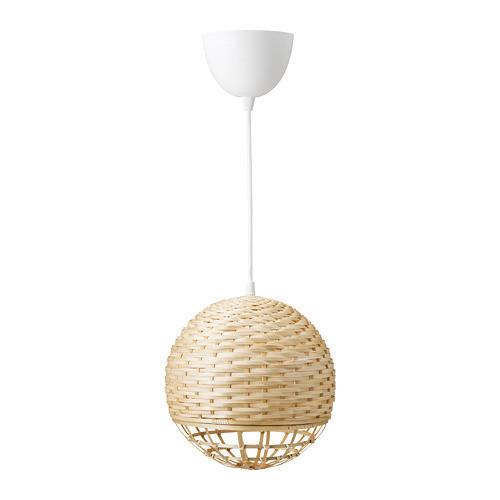 Подвесной светильник IKEA INDUSTRIELL 24 см бамбук 303.963.54