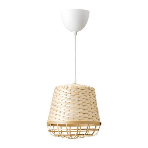 Подвесной светильник IKEA INDUSTRIELL 24 см бамбук 403.963.58
