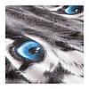 Комплект постельного белья IKEA URSKOG 150x200/50x60 см с рисунком тигра серый 703.938.53, фото 5