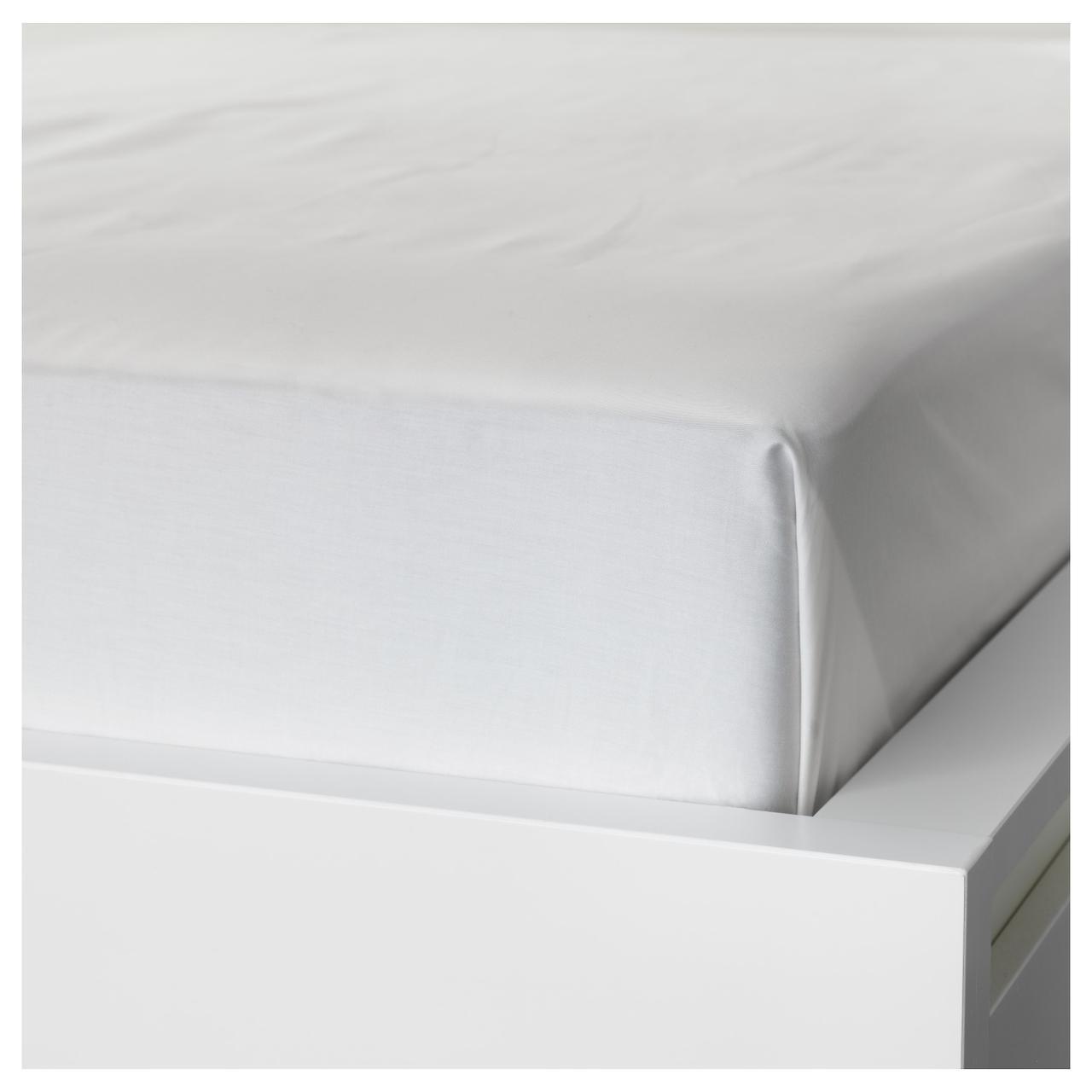 Простыня IKEA NATTJASMIN 240х260 см белая 303.437.42