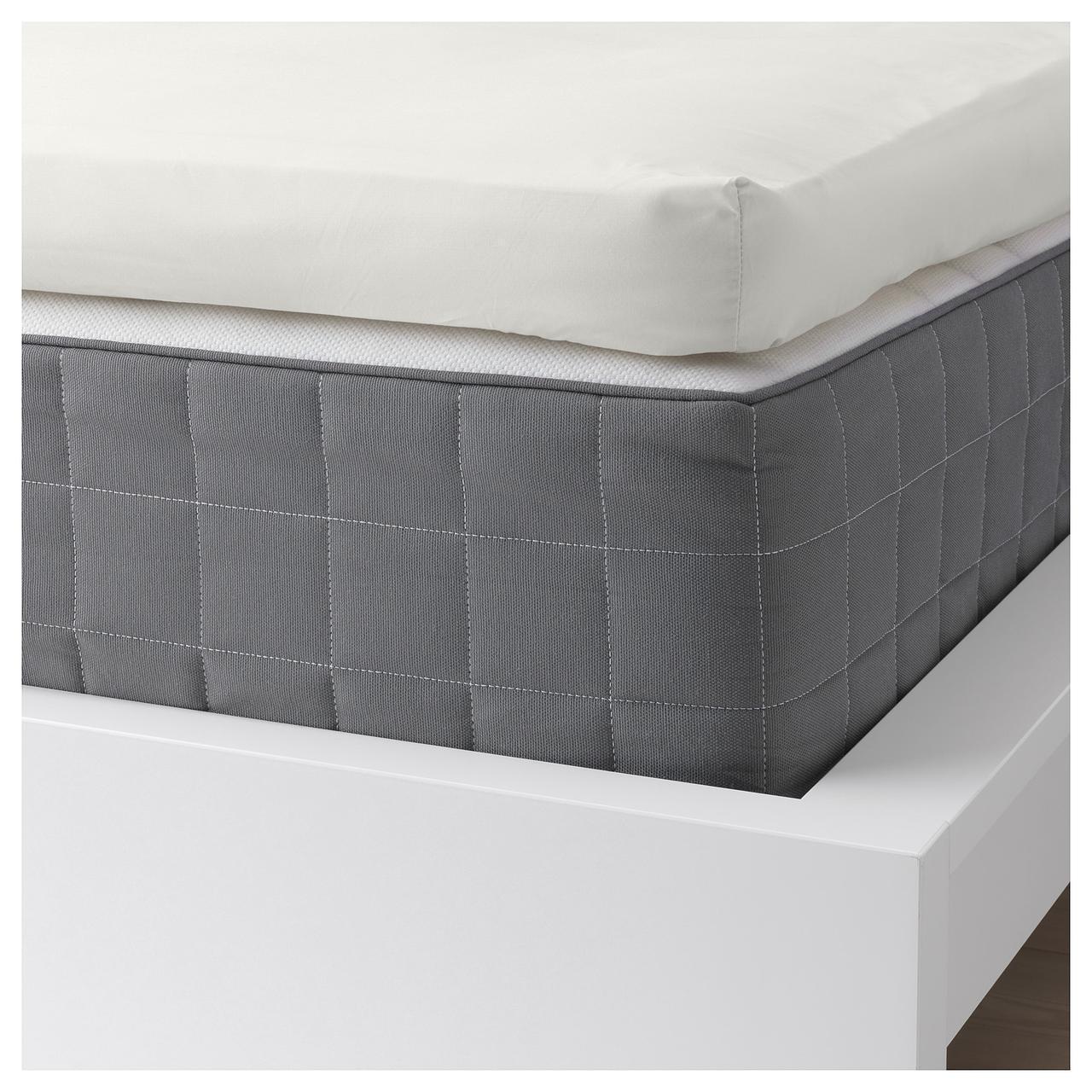 Простыня IKEA SÖMNTUTA 160х200 см на резинке белая 204.127.45