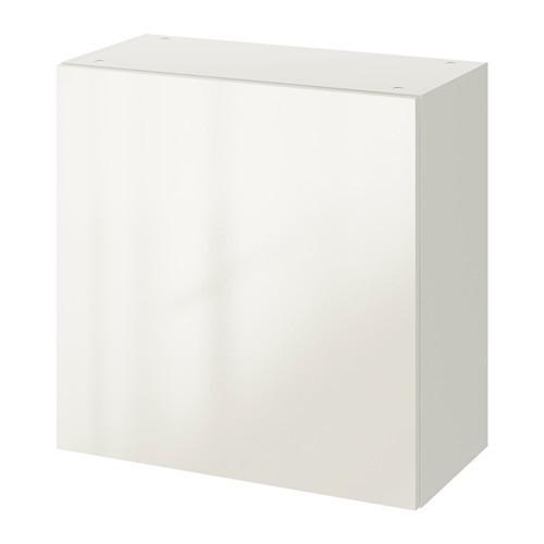 Настенный шкафчик с дверкой IKEA KNOXHULT 60x60 см глянцевый белый 703.268.11