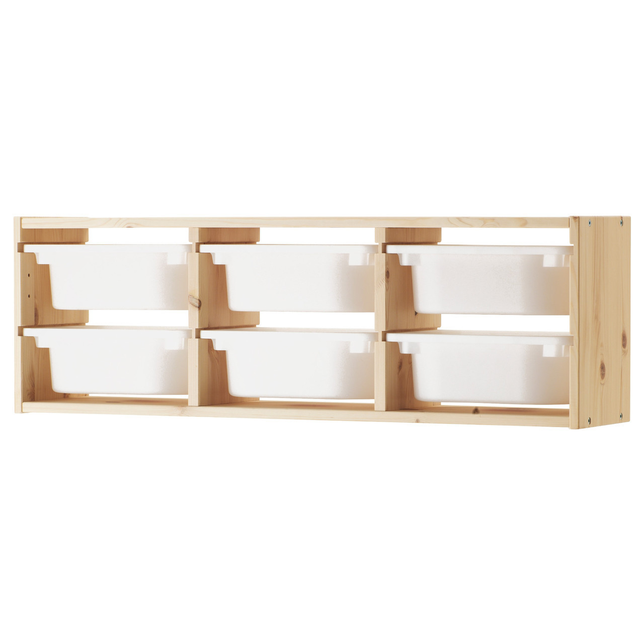 TROFAST Шкаф навесной, сосна, белый 491.023.04