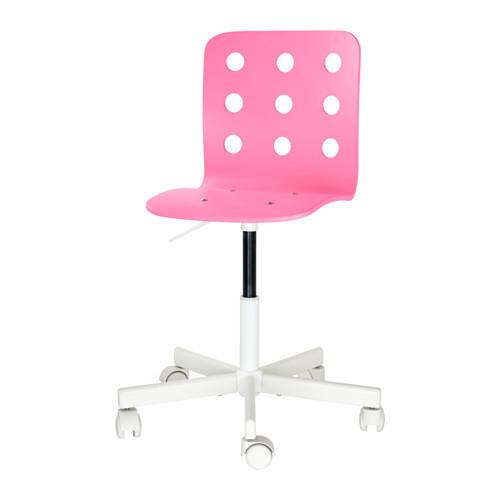 Детский стул д/письменного стола, розовый, белый IKEA JULES 892.077.14