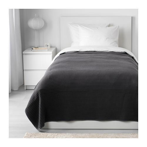 Покрывало, темно-серый, 150x250 см IKEA VÅRELD 003.464.45