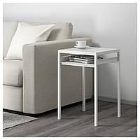 Кофейный столик с двусторонней столешницей IKEA NYBODA 40x40x60 см белый серый 603.426.42