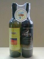 Упаковка ликеро-водочной продукции в термоусадочную пленку. Ручная упаковка
