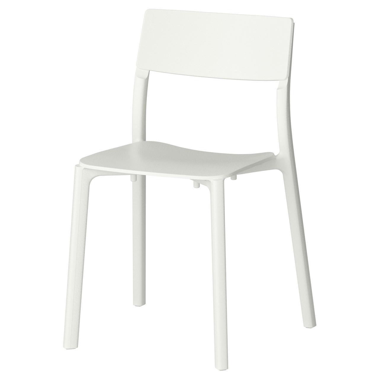 Стул рабочий IKEA JANINGE белый 002.460.78