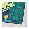 Ковер IKEA URSKOG 133x160 см безворсовый с рисунком листьев зеленый 003.939.03, фото 2