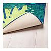 Ковер IKEA URSKOG 133x160 см безворсовый с рисунком листьев зеленый 003.939.03, фото 3