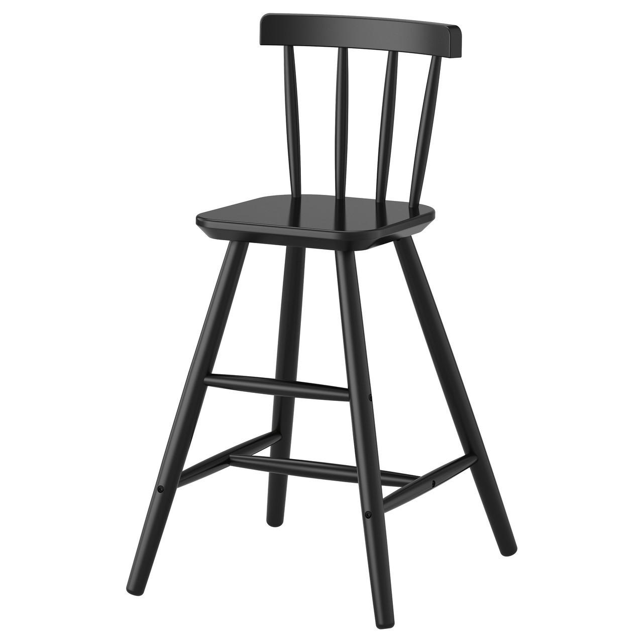 Детский стул IKEA AGAM черный 702.535.41