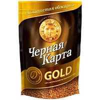 Кофе растворимый Черная Карта Gold в пакете 130 г