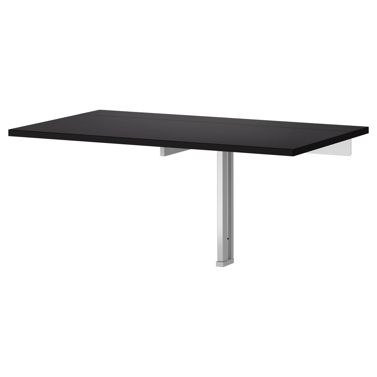 Столик складной настенный IKEA BJURSTA коричнево-чёрный 802.175.24