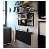 Столик складной настенный IKEA BJURSTA коричнево-чёрный 802.175.24, фото 3