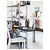 Столик складной настенный IKEA BJURSTA коричнево-чёрный 802.175.24, фото 4