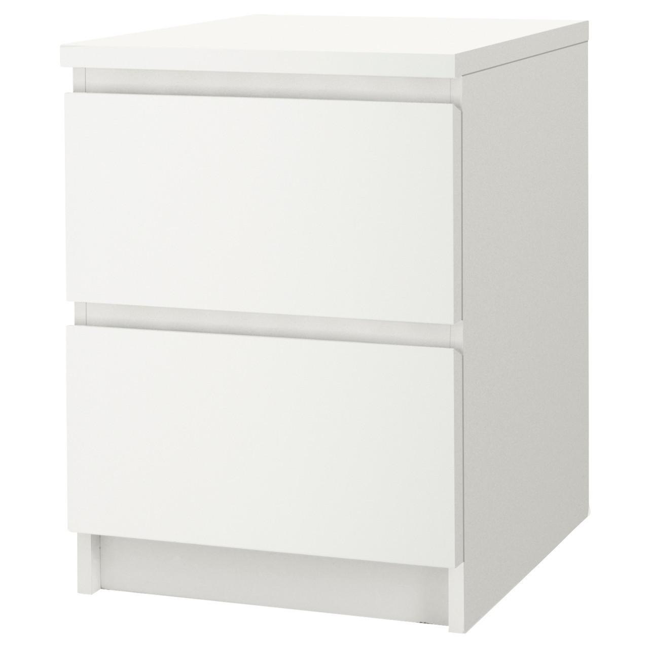 MALM Комод с 2 ящиками, белый 802.145.49