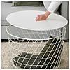 Журнальный столик IKEA KVISTBRO с местом для хранения белый 503.222.39, фото 3