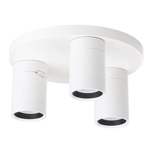 Потолочный софит, 3 лампы, белый IKEA NYMÅNE 003.362.67