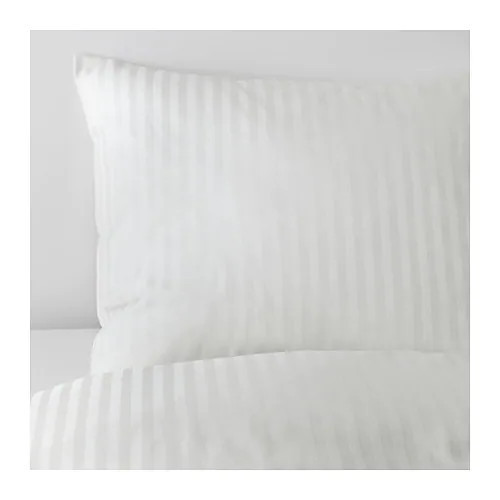 Комплект постельного белья IKEA NATTJASMIN 200x200/50x60 см белый 603.371.60