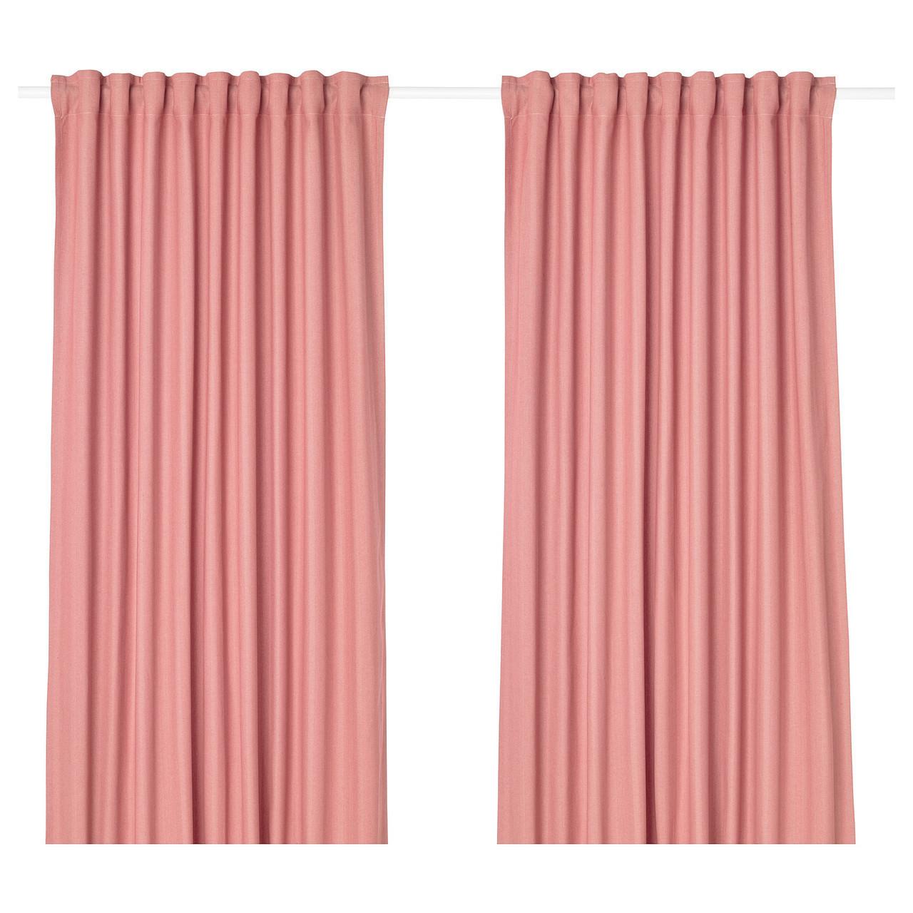 Гардины IKEA TIBAST 145x300 см 2 шт розовые 403.967.54