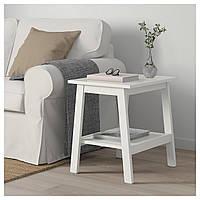 Журнальный столик IKEA LUNNARP 55x45 см белый 703.990.20