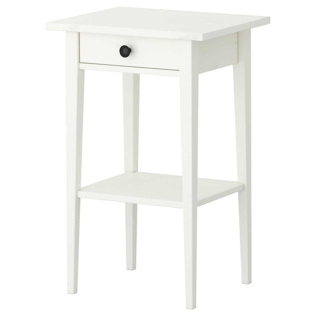 Ночной столик IKEA HEMNES белая морилка 202.004.56