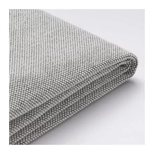 Чехол подушки сидения 3-местного модульного дивана IKEA DELAKTIG Tallmyra белый серый 003.948.08
