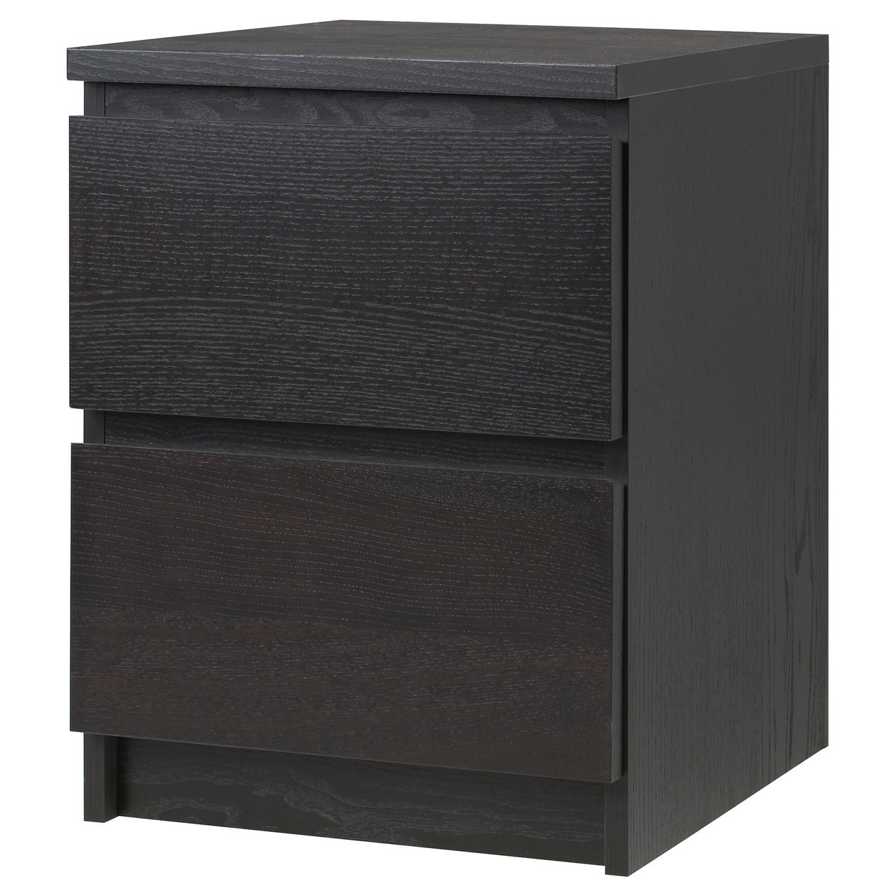 MALM Комод, 2 ящика, czarnobrąz 001.033.43