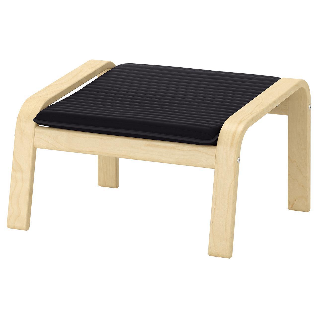 Подставка для ног IKEA POÄNG березовый шпон Knisa черная 492.446.57