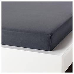 Простирадло на гумці IKEA PUDERVIVA 140х200 см темно-сіра 104.120.72