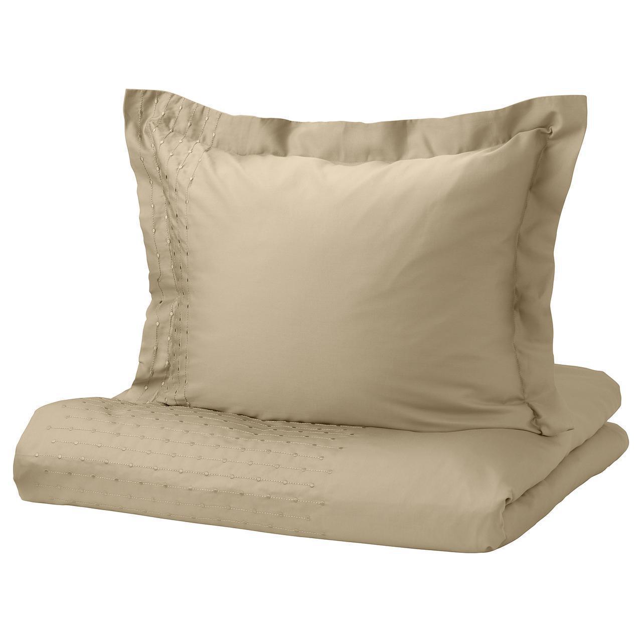 Комплект постельного белья IKEA PRAKTVIVA 150х200 см бежевый 403.798.20