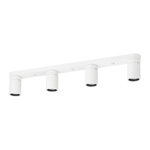 Потолочный софит, 4 ламп, белый IKEA NYMÅNE 703.377.01
